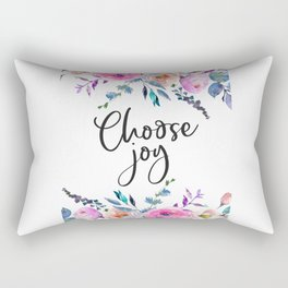 Choose Joy, Nursery Wall Art, Inspirational Quotes, Typography Print, Typography Wall Art Rectangular Pillow