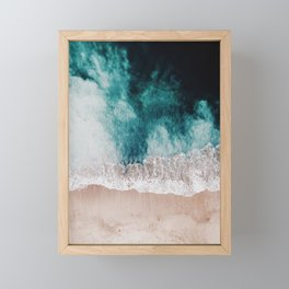 Ocean (Drone Photography) Framed Mini Art Print