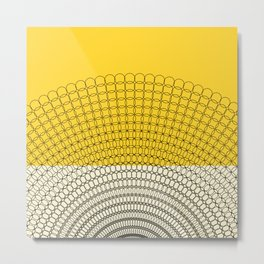 Sunflower Geometric Pattern Metal Print