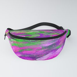 Abstract colorful green-pink paint Fanny Pack