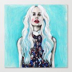 Fleur bleu Canvas Print