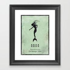 Pirates of the Caribbean 4 - On Stranger Tides - minimal poster Framed Art Print