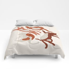 Abstract Lazy Cats Comforters
