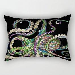 Octopsychedelia (black) Rectangular Pillow