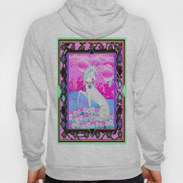 Decorative Fantasy White Unicorn Pink Art Hoody