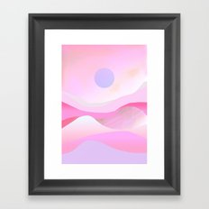 Pink Hills Framed Art Print