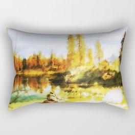 Color trees in autumn Rectangular Pillow