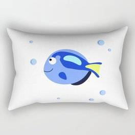 Fish tank svg Printable wall art, Wall decal nursery, Nautical decor Rectangular Pillow