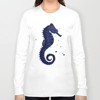 sea horse Long Sleeve T-shirts featuring Sea Horse by Chrystal Elizabeth