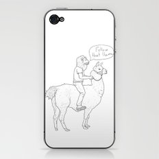 Follow that llama ! iPhone & iPod Skin
