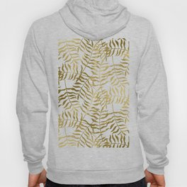 Gold Leaves on White Hoody