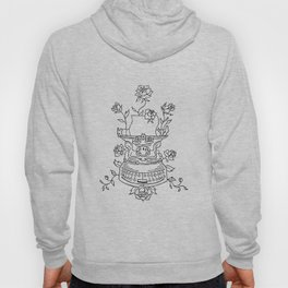 Antique Typewriter Entwined in Roses Hoody