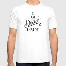 I am dead inside Mens Fitted Tee 2X-LARGE White