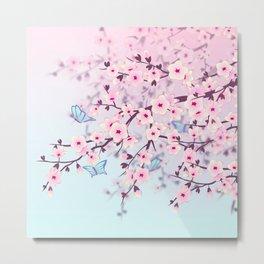 Cherry Blossom Landscape Metal Print