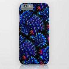 Cactus Floral - Bright Blue/Red Slim Case iPhone 6s