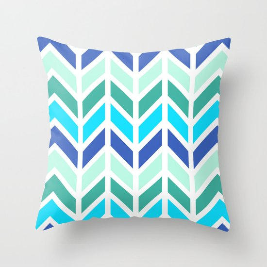 SPRING CHEVRON 2 Throw Pillow