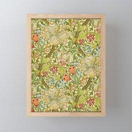 William Morris Golden Lily Vintage Pre-Raphaelite Floral Art Framed Mini Art Print