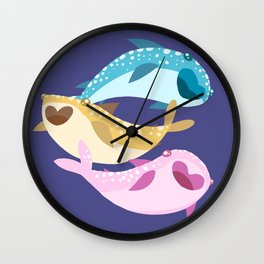 Whale Sharks Wall Clock