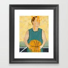 Losing my love for basketball Framed Art Print