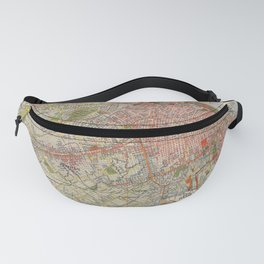 Map Of Buenos Aires 1912 Fanny Pack