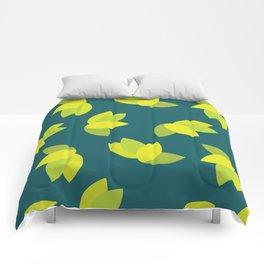 Geometric Leaves Comforters