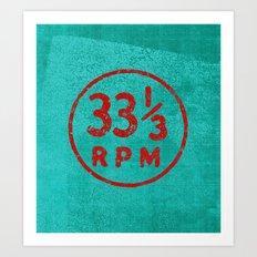33 & a third RPM Circle Art Print