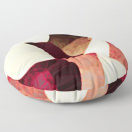 Baroque Burgundy Copper Ivory Maximum Abstract Art Floor Pillow