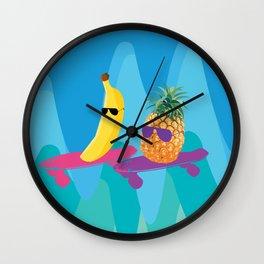 Skating duo Wall Clock