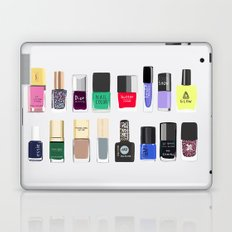 My nail polish collection art print Laptop & iPad Skin