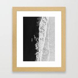 Ocean Surfing Girls Framed Art Print
