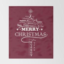 The Wishing Christmas Tree Throw Blanket