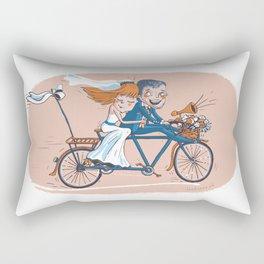 Happy Bridal Couple Rectangular Pillow