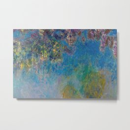Wisteria by Claude Monet Metal Print