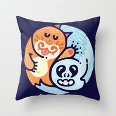 Ginger & The Spook Throw Pillow