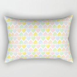 Candy Hearts Pattern Rectangular Pillow
