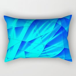 Bright sunshine on celestial and blue triangles of irregular shape. Rectangular Pillow