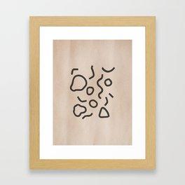 Simple Confetti Framed Art Print