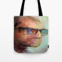 christian Tote Bags featuring Christian Gerhartsreiter by robotrake