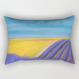 LAVENDER FIELD of SANTA YNEZ Rectangular Pillow
