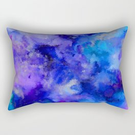 Abstract Art Pour - Blue, Purple and Grey Rectangular Pillow