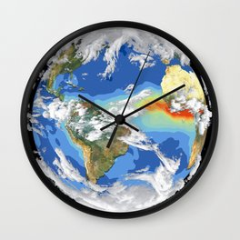 Satellite Image of Earth's Interrelated Systems and Climate Wall Clock
