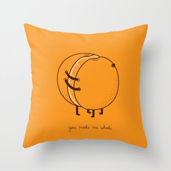 My better half Throw Pillow