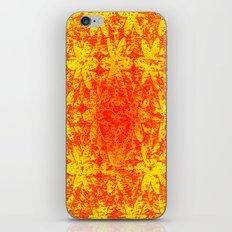 Fiery Halftone Flowers iPhone & iPod Skin