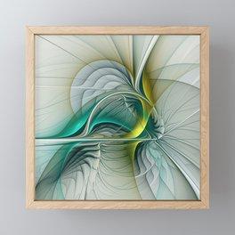 Fractal Evolution, Abstract Art Graphic Framed Mini Art Print