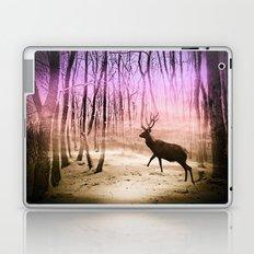 Deer in a foggy forest Laptop & iPad Skin