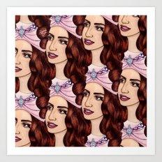 Tessellated Lady G Art Print