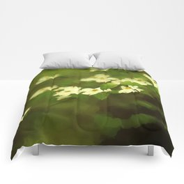 Oil Painting Dogwoods Comforters