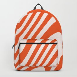 Deep Orange Zebra Grooves Abstract Pattern Backpack