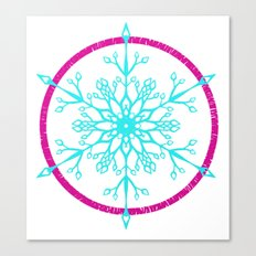 Dream-catching a Snowflake Canvas Print