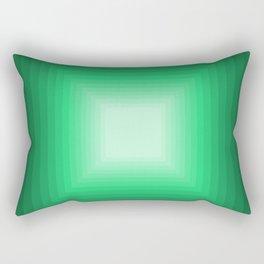 Green Square Gradient Rectangular Pillow